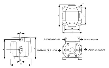 Schemat techniczny pomp SAMOA DF30