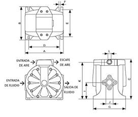 Schemat techniczny pompy DF100
