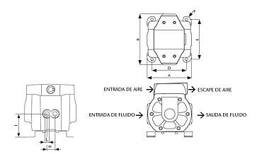 Przekrój techniczny pompy membranowej
