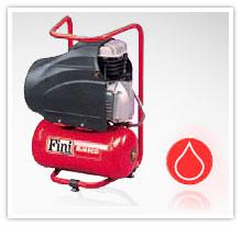 Kompresory tłokowe FINI z napędem bezpośrednim / olejowe serii AMICO