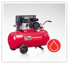 Kompresory tłokowe FINI z napędem pasowym / jednostopniowe / olejowe serii MK